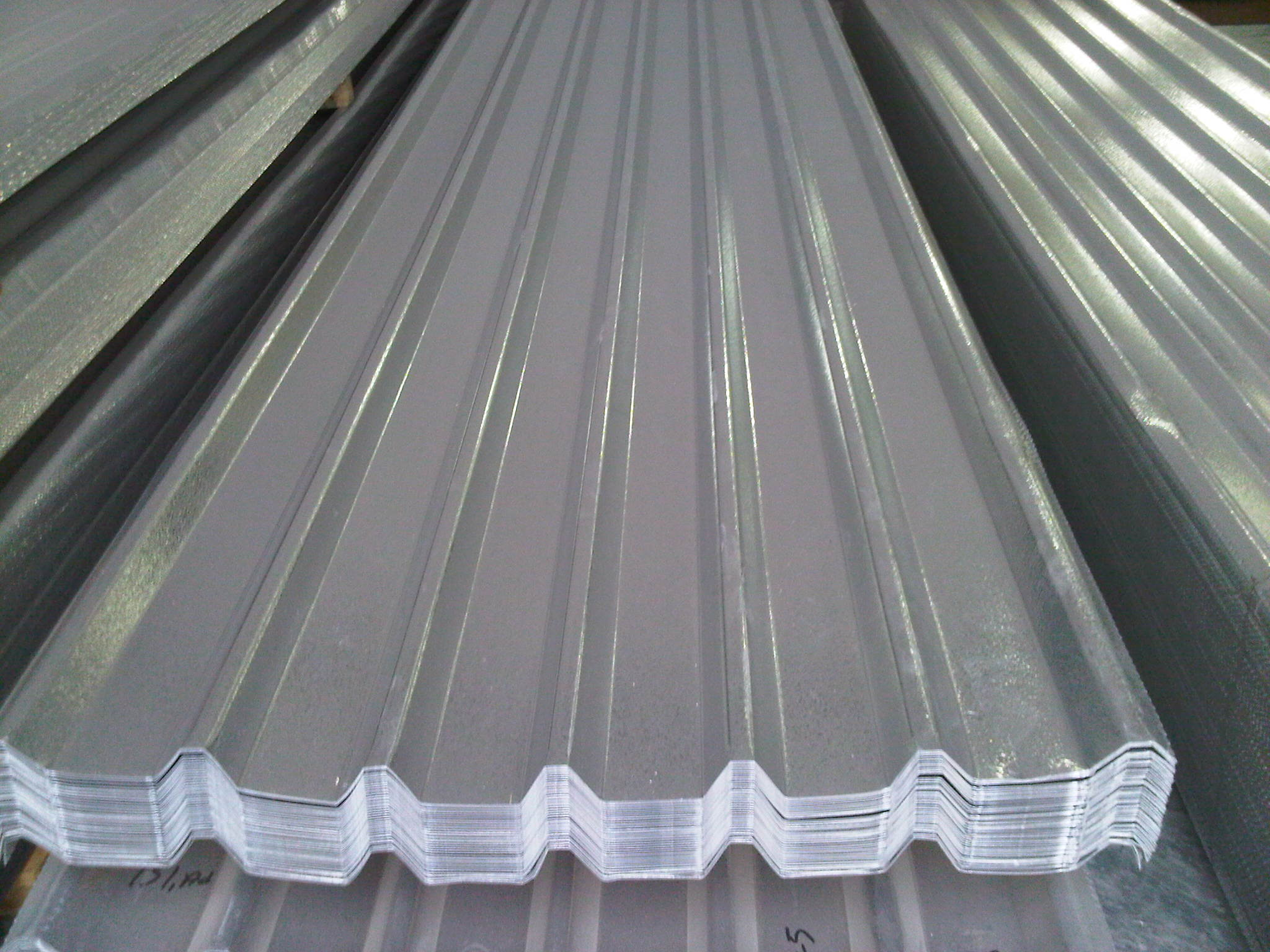 Galvanized trapezoidal sheets